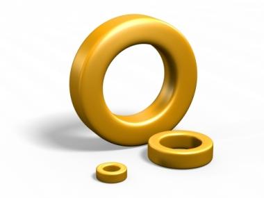Gold epoxy coating powder for powder cores toroids