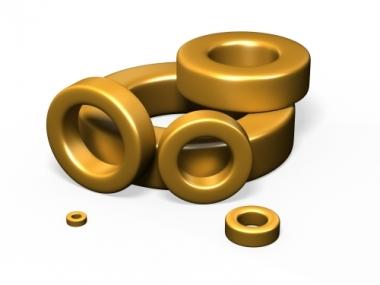 Halogen-free gold epoxy coating powder powder cores toroids