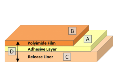 polyimide-tape-on-release-liner-layers