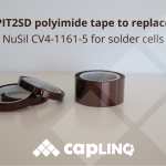PIT2SD polyimide tape to replace NuSil CV4-1161-5 for solder cells