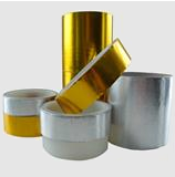 5 mil Aluminized Glass Cloth Tape Flame Retardant Acrylic Adhesive Single Sided