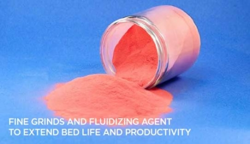 Fine grinds and fluidizing agents to extend bed life and productivity