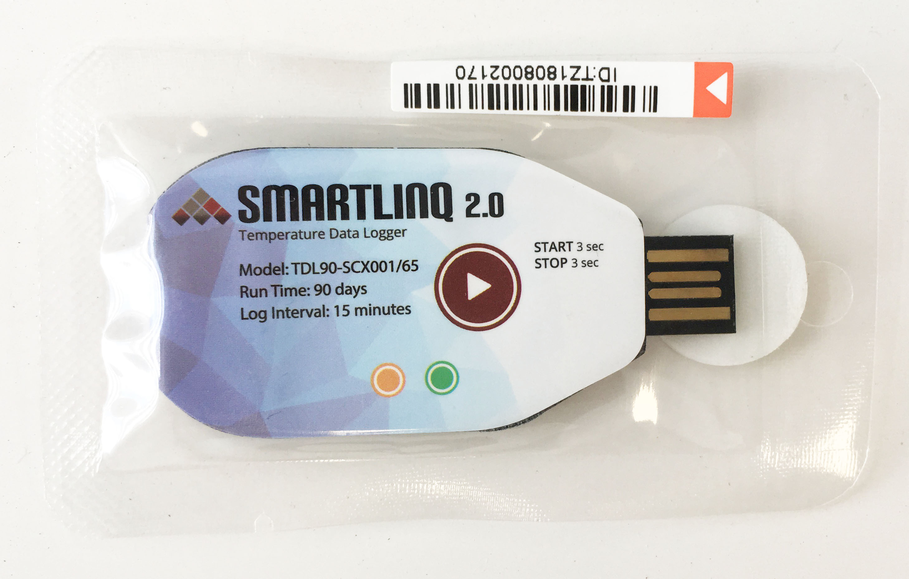 Smartlinq v2.0 Single-Use 90 Day USB Temperature Data Loggers