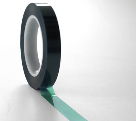 2-mil polyester tape rolled out