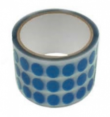 1-mil Blue Die Cut Polyester (PET) Tape Silicone Adhesive Single-Sided | Discs